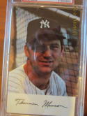 1971 Yankees Thurman Munson Schedule Postcard psa 8 Yankees