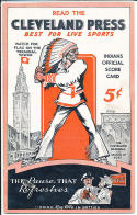1934 Cleveland Indians vs Boston Red Sox 11 - 2 scored program
