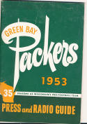 1953 Green Bay Packers press media guide em