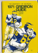 1971 University of Michigan football press media guide nm