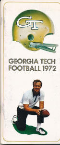 1972 Georgia Tech football press media guide em
