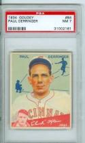 1934 goudey Paul Derrigner #84 psa 7 nm