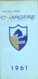 1961 San Diego Chargers press & media guide em clean copy