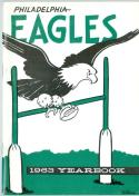 philadelphia Eagles 1963 yearbook em/nm