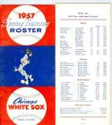 1957 Chicago White Sox Spring training roster - media guide