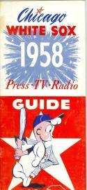 1958 Chicago White Sox press media guide   em
