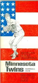 1966 Minnesota Twins press media guide em