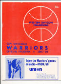 10/15 1967 San Francisco Warriors vs St. Louis Hawks Basketball program nrmt