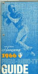 1966 San Diego Chargers Press Media Guide em (binder version)