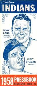 1958 Cleveland Indians press media guide