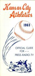 1963  Kansas City Athletics press media guide nm  (bx guide)