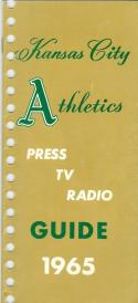 1965  Kansas City Athletics press media guide em  (bx guide60)