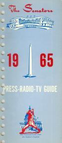 1965 Washington Senators press media guide em  (bx guide60)