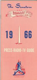 1966 Washington Senators press media guide em  (bx guide60)