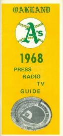 1968 Oakland Athletics press media guide nm  (bx guide60)