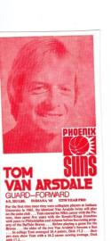 Tom Van Arsdale Carnation 1976 Phoenix suns not listed!