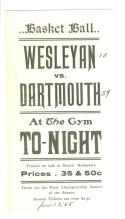 1905 Wesleyan vs Dartmouth Basketball Promotional Flyer