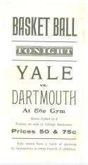 1905 Yale  Dartmouth Basketball Promotional Flyer