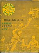 1967 - 1968 ABA Oakland Oaks Press radio TV media guide