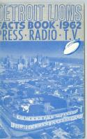 Detroit Lions 1962 Football Guide nm - bx ft pro guide