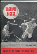 1942 August Baseball Digest first issue spine tear
