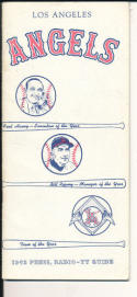 1963 LA Angels press guide  em-nm
