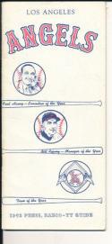 1963 LA Angels press guide  em-nm