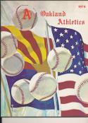 1974 Oakland Athletics spring training program em-nm