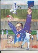 1985 Chicago Cubs spring training program em-nm