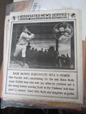 1925 New York Yankees Ben Paschal Associated News Service poster