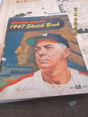 1947 Boston Braves Yearbook Original Artwork! Warren Spahn