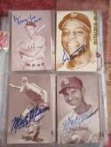 Marty Marion St. Louis Cardinals Portrait  signed 1946-1967 Exhibit Card