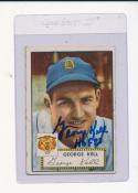 George Kell 246 signed 1952 Topps Signed (hof)