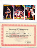1975 3 card strip Jim Barnett Earl Williams, Nate Thurmond Topps Proof cards