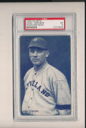 1928 exhibits Chas. Jameson cleveland Indians Postcard back psa 5 ex