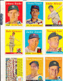 1958 Topps 130 Jackie Jensen Boston Red Sox Signed card vintage