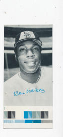 Willie McCovey San Diego Padres 1974 Topps Deckle edge proof card grey