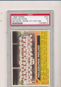 1956 topps Philadelphia Phillies Team no date, name left psa 5 #72
