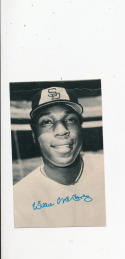 Willie McCovey San Diego Padres 1974 Topps Deckle edge proof card White