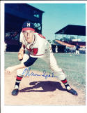 Warren Spahn Milwaukee braves  8x10 signed
