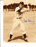 Cal Abrams Brooklyn Dodgers 49-52 Signed Baseball 8x10 photo d.97; batting