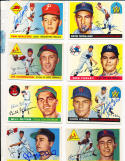 Chuck Stobbs Senators 41  Signed 1955 Topps Card