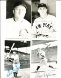 Al Red Faber Chicago Cubs signed postcard d.98