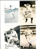 Bill Terry New York Giants signed postcard