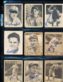 1940 playball Baseball card signed Bill Judges 89  vg new york giants