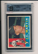 1960 topps J.C. Martin Chicago White Sox GAI 9 mint
