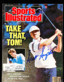 1987 6/29 Scott Simpson golf Signed sports Illustrated