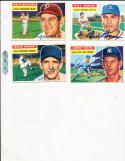 1956 Topps Signed card Bill Renna Athletics 82