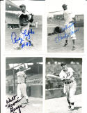 Walt Moose moryn chicago cubs signed 4 x 6 signed photo