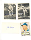Ted Lyons signed index card